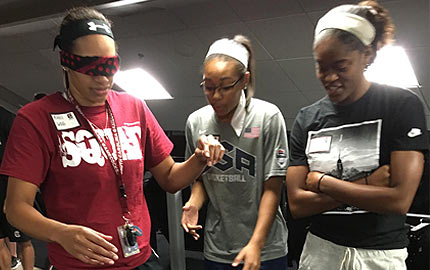 Janssen Sports Leadership Center works with female athletes